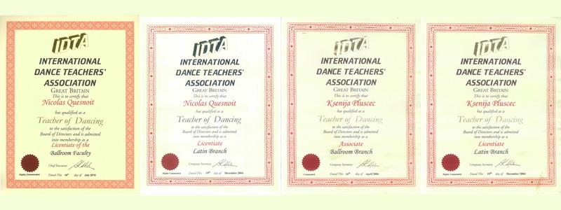 Prestižne plesne diplome Nicolasa i Ksenije za Društvene i Latino plesove