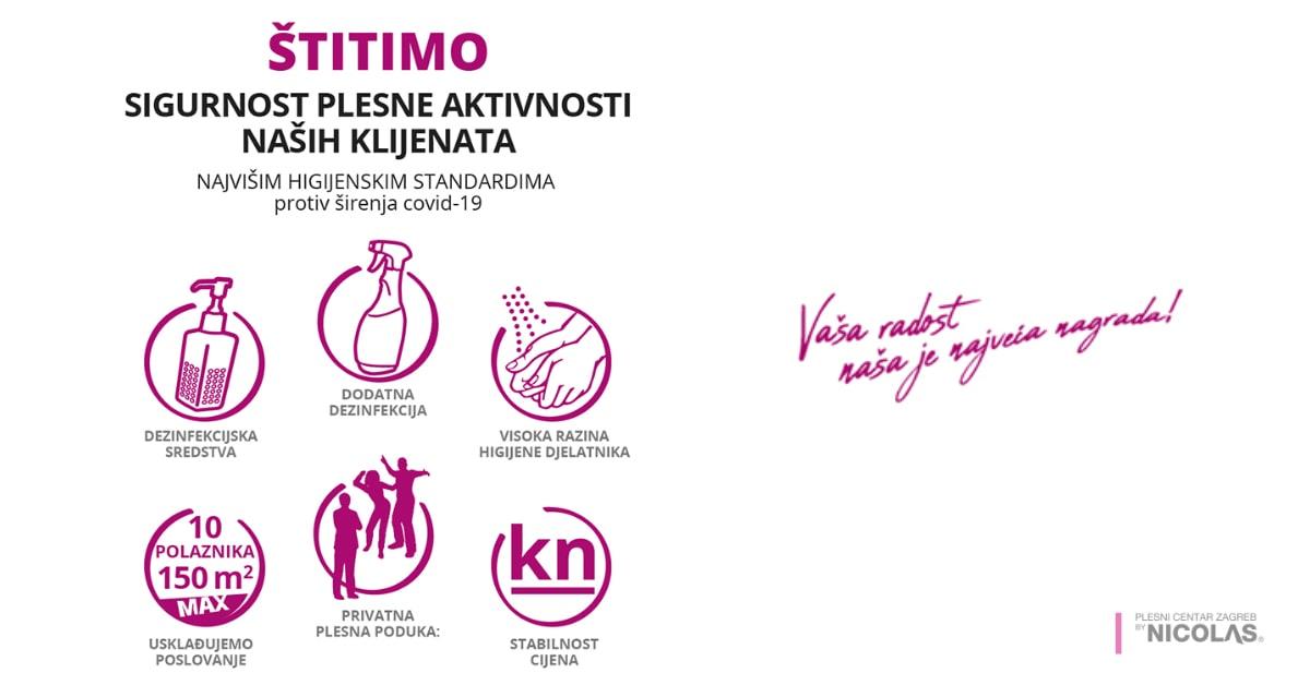Obavijest COVID - otvaranje Plesnog centra Zagreb by Nicolas