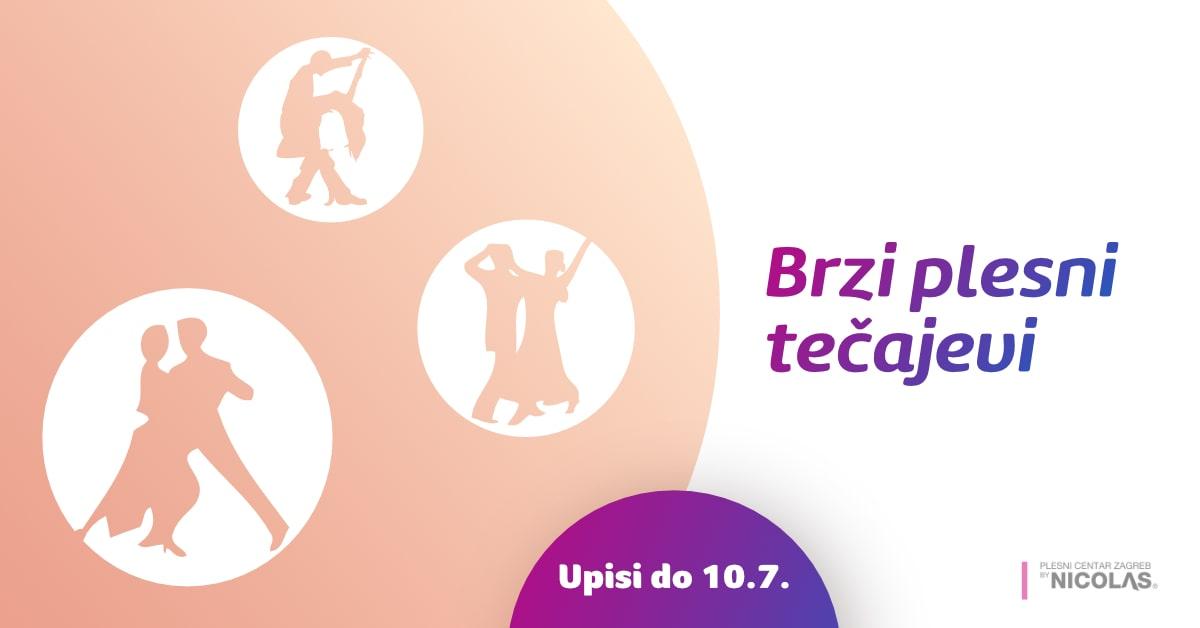 Brzi plesni tečajevi u Plesnom centru Zagreb by Nicolas - upisi do 10.7.