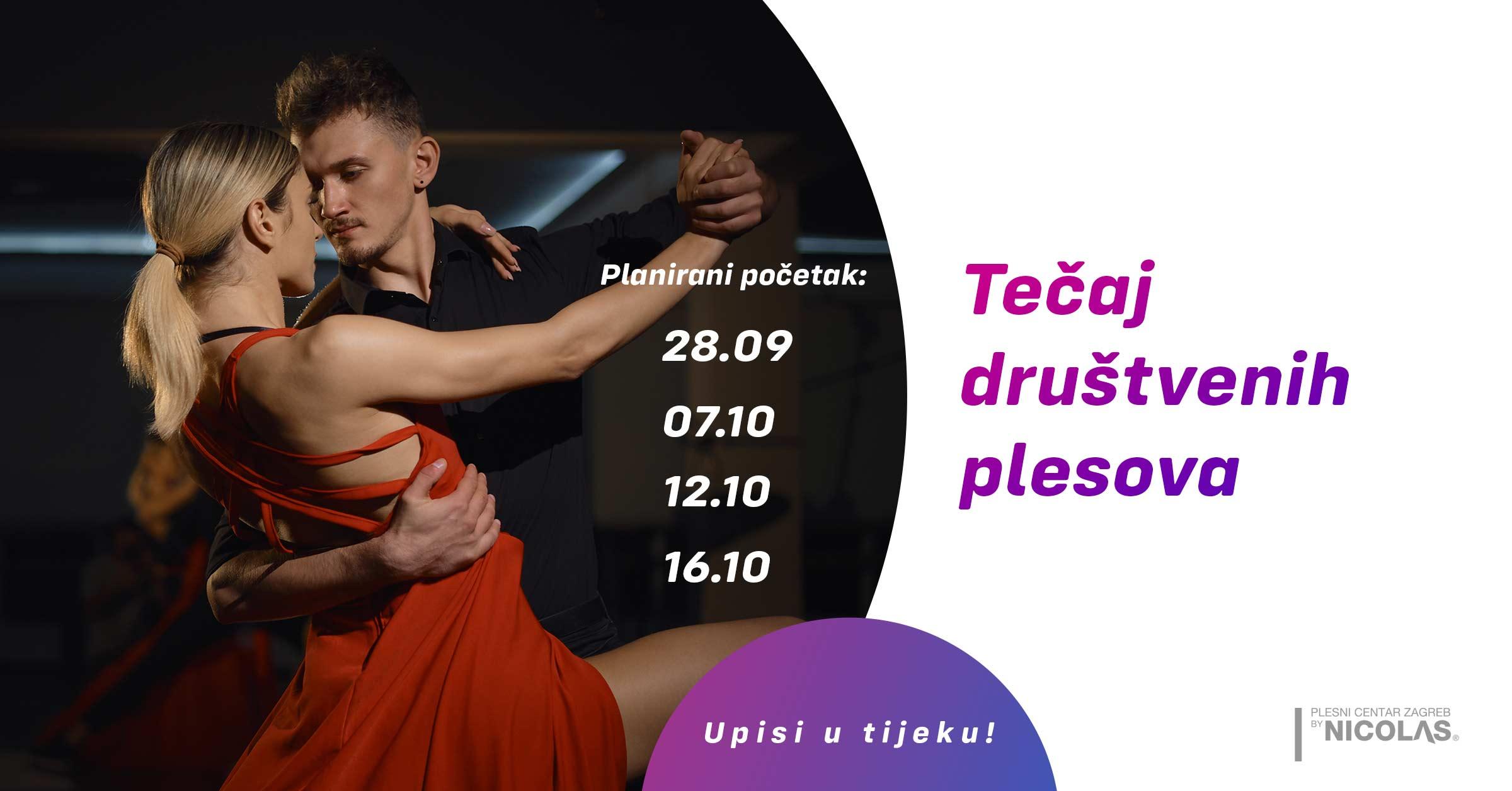 Tečaj društvenih plesova Plesni centar Zagreb by Nicolas